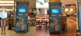 Montagem da ativação da Eco Machine do Grupo Four Midia e Four Planet no Shopping Morumbi